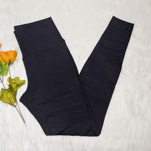 Lululemon Black Sheer Crisscross Leggings Size 8